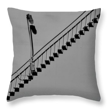 Steps In The Shadows Throw Pillow by Kelvin Booker