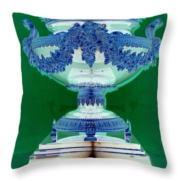 Sterling Urn Throw Pillow by Randall Weidner