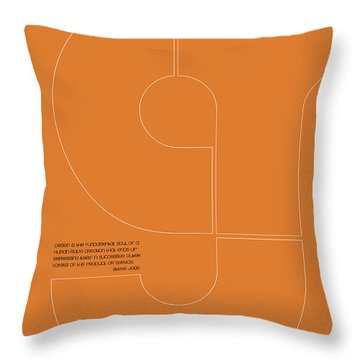 Steve Jobs Quote Poster 2 Throw Pillow