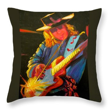 Stevie Ray Vaughn Throw Pillow