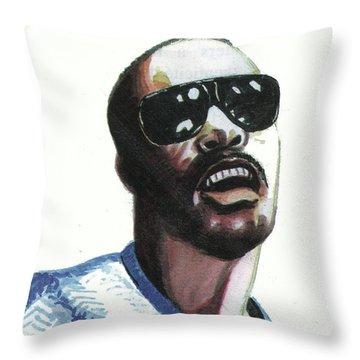 Stevie Wonder Throw Pillow