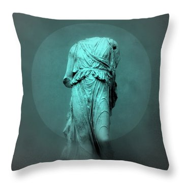 Still Life - Robed Figure Throw Pillow by Kathleen Grace