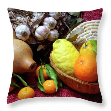 Still-life Throw Pillow by Carlos Caetano
