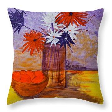 Still Life Throw Pillow by Judi Goodwin