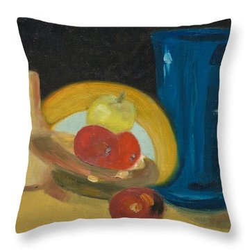 Still Life Of Fruit Throw Pillow