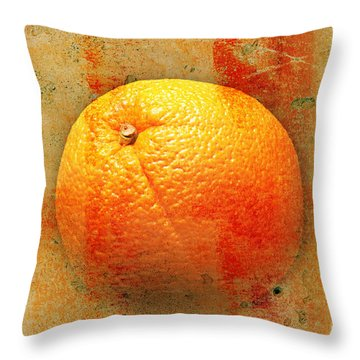 Still Life Orange Abstract Throw Pillow by Andee Design