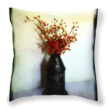 Still Life With Berries Throw Pillow by Judi Bagwell