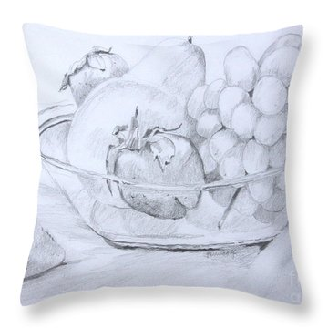 Still Life With Fruit Throw Pillow by Jan Bennicoff