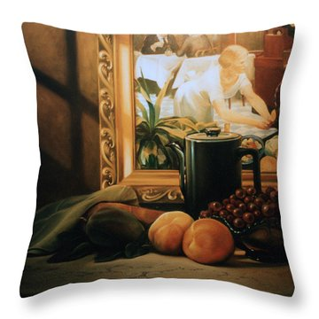 Still Life With Hopper Throw Pillow