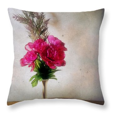 Still Life With Texture Throw Pillow by Judi Bagwell