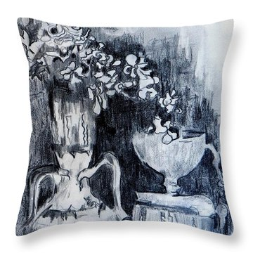 Still Life With Vases Throw Pillow by Jolante Hesse