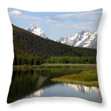 Throw Pillow featuring the photograph Still Waters by Living Color Photography Lorraine Lynch