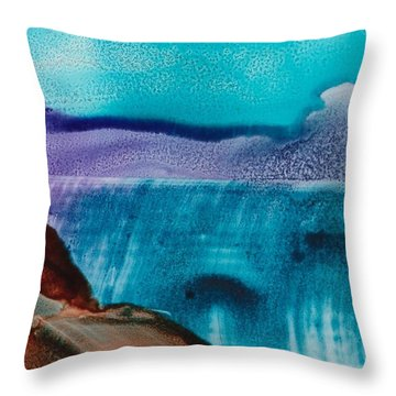 Still Waters Throw Pillow by Susan Kubes