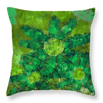 Stimuli Floral -s11bt01 Throw Pillow by Variance Collections