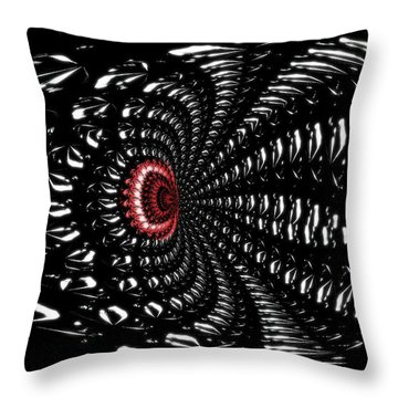 Sting Of The Black Widow Throw Pillow by Maria Urso
