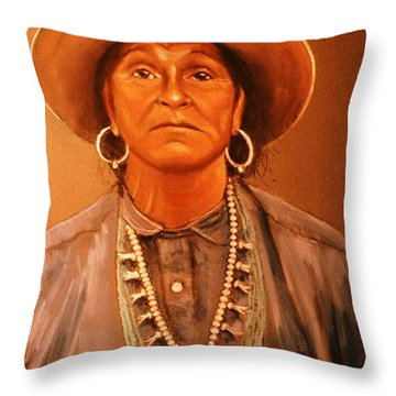 Throw Pillow featuring the painting Stoic by Charles Munn