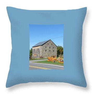 Stone Barn Throw Pillow by John Turner