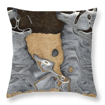 Stone Men 28 - Celebration  Throw Pillow by Variance Collections