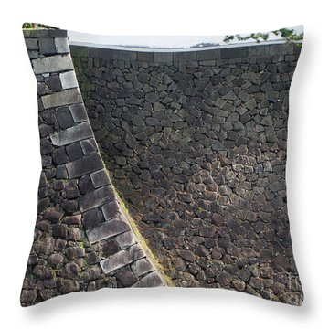 Stone Walls Throw Pillow by Eena Bo