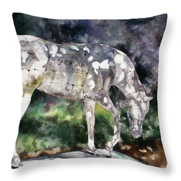 Throw Pillow featuring the painting Stonerside by Mary McCullah