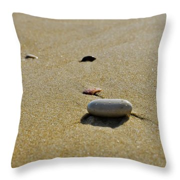 Stones In The Sand Throw Pillow
