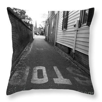 Throw Pillow featuring the photograph Stop by Andrea Anderegg