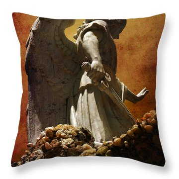Stop In The Name Of God Throw Pillow by Susanne Van Hulst