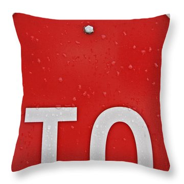 Stop Throw Pillow by Jarrod Erbe
