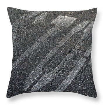 Stop Throw Pillow by Nina Prommer