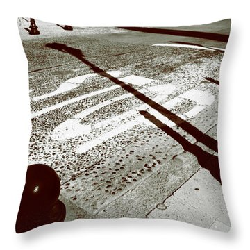 Stop Shadow Throw Pillow by Gabe Arroyo