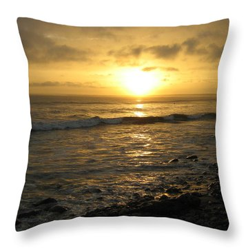 Storm At Sea Throw Pillow by Bruce Carpenter
