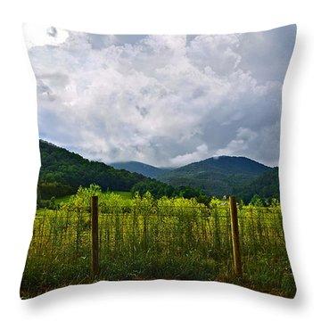 Storm Breaking Throw Pillow by Susan Leggett