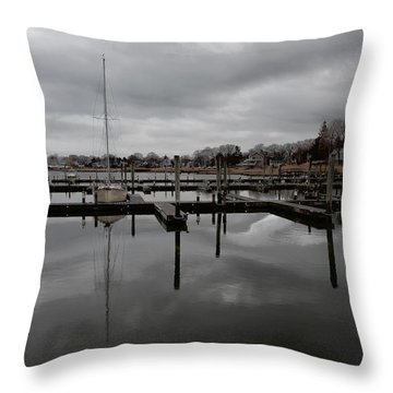 Storm Brewing In The Early Season Throw Pillow by Karol Livote