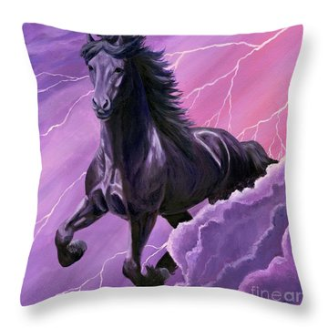 Storm Chaser Throw Pillow by Sheri Gordon