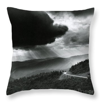 Storm Cloud Throw Pillow by Bruce Roberts and Photo Researchers