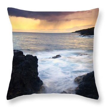 Storm Fissure Throw Pillow by Mike  Dawson