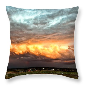 Storm Glow Throw Pillow by Christopher Holmes