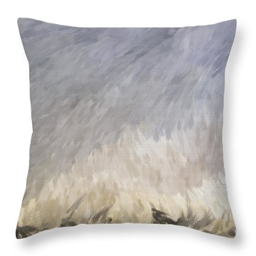 Storm In Life Throw Pillow by Deborah Benoit