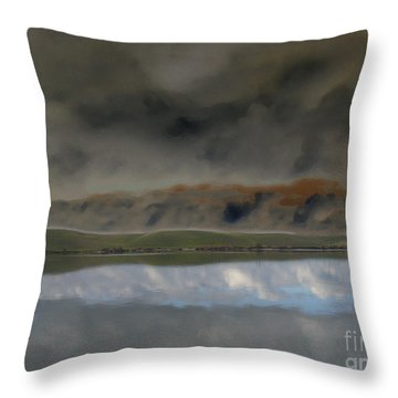 Storm On Land Throw Pillow