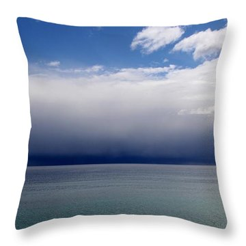 Storm On The Horizon Throw Pillow by Davandra Cribbie