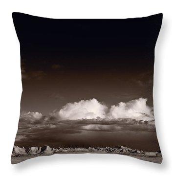 Storm Over Badlands Throw Pillow by Steve Gadomski