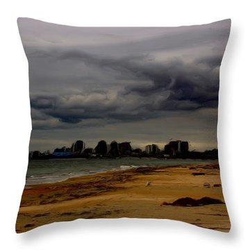Storm Rolls In Throw Pillow by Heidi Smith