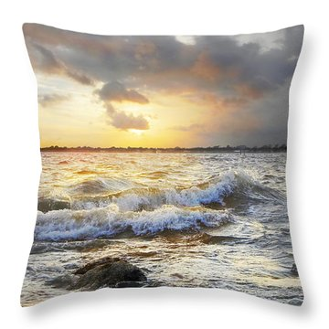 Storm Waves Throw Pillow