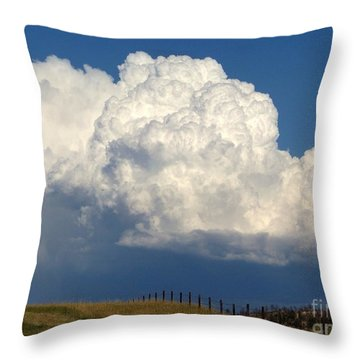 Storm's A Brewin' Throw Pillow by Dorrene BrownButterfield