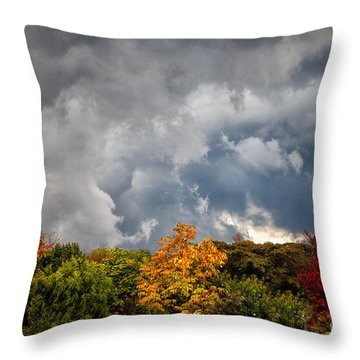 Storms Coming Throw Pillow