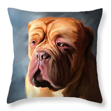 Stormy Dogue Throw Pillow by Michelle Wrighton
