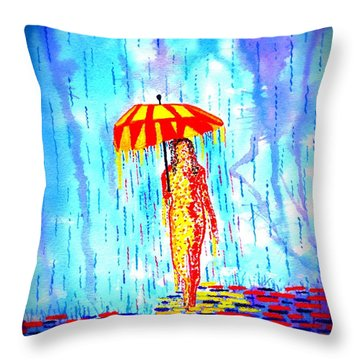 Stormy Mood 2 Throw Pillow by Connie Valasco
