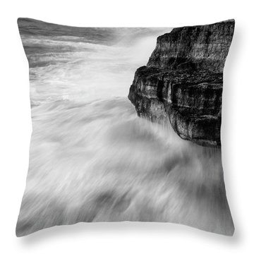 Throw Pillow featuring the photograph Stormy Sea 1 by Pedro Cardona