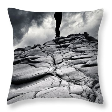 Stormy Silhouette Throw Pillow by Stelios Kleanthous