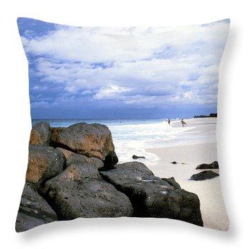Stormy Sky Banzai Beach Throw Pillow by Thomas R Fletcher